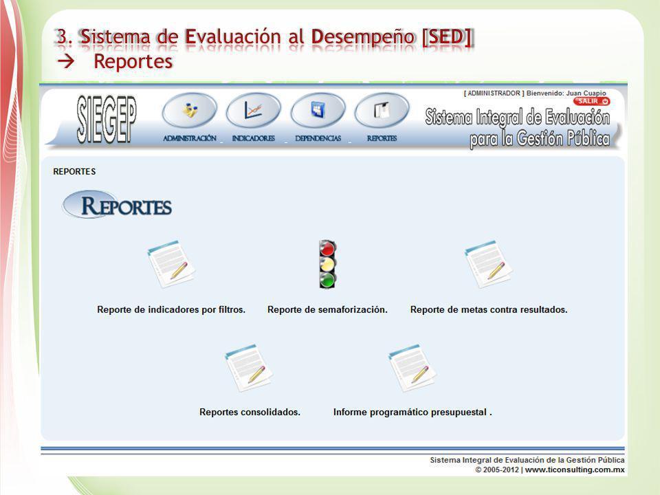 3. Sistema de Evaluación al Desempeño [SED]